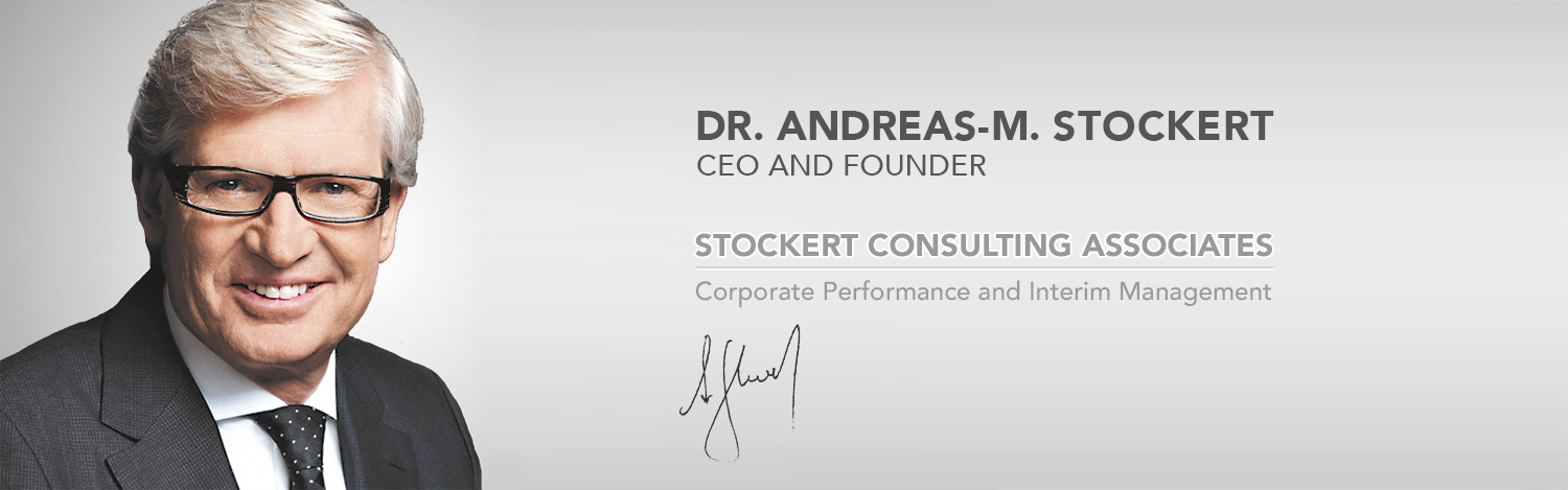Andreas Stockert | CEO and Founder - Stockert Consulting Associates – Interim Management and Coporate Perfomance